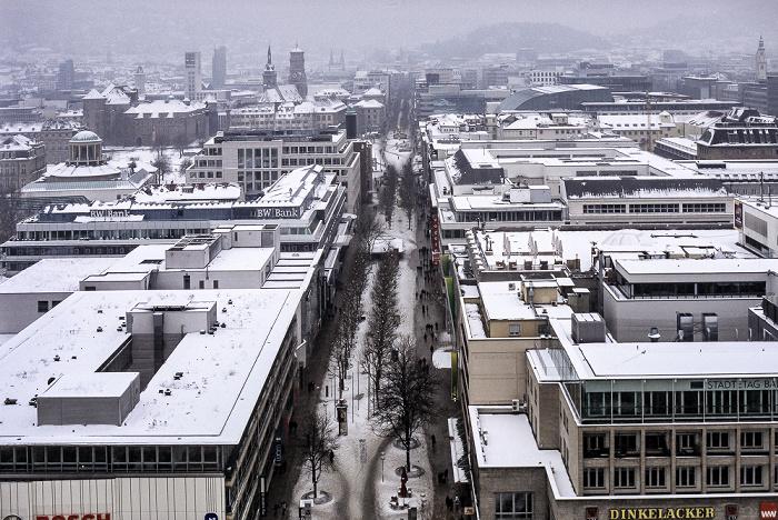 Stuttgart Hauptbahnhof: Blick vom Bahnhofsturm Königstraße