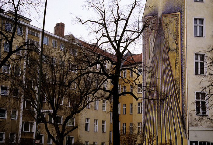 Berlin Charlottenburg: Wandgemälde Ecke Schlossbrücke/Tegeler Weg Schloßbrücke
