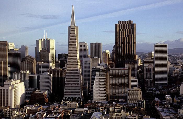 San Francisco Blick vom Coit Tower: Financial District 345 California Center 555 California Street Transamerica Pyramid