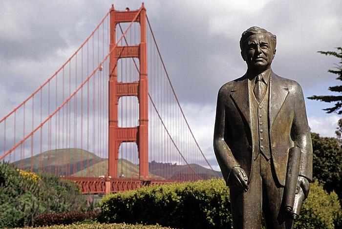 San Francisco Statue von Joseph Baermann Strauss Golden Gate Bridge