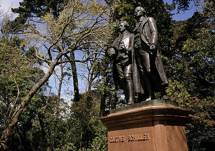 San Francisco Golden Gate Park: Goethe-Schiller-Denkmal