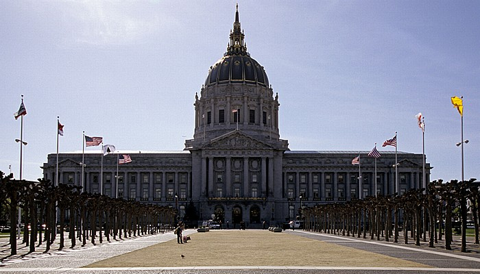 San Francisco Tenderloin: Civic Center Plaza, City Hall (Rathaus)