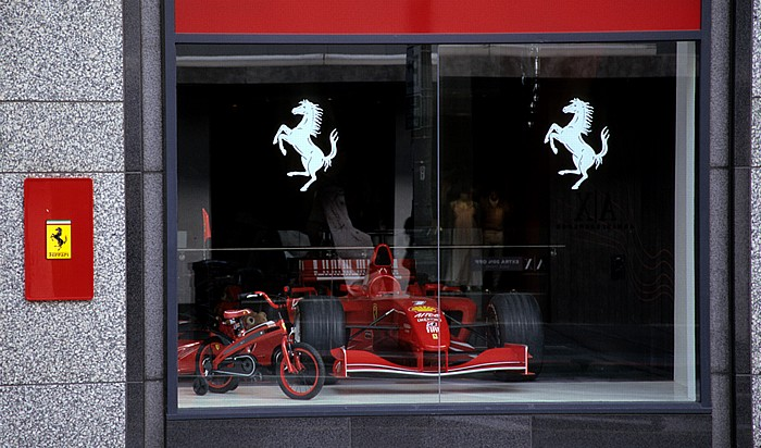 San Francisco Union Square: Stockton Street: Ferrari Store