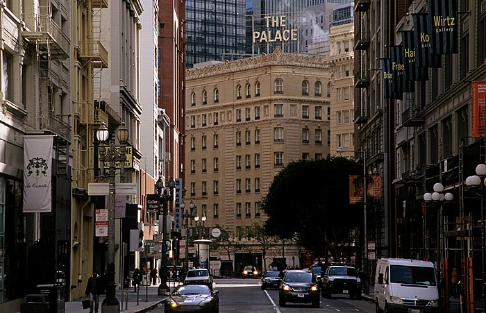 San Francisco Union Square: Geary Street Palace Hotel
