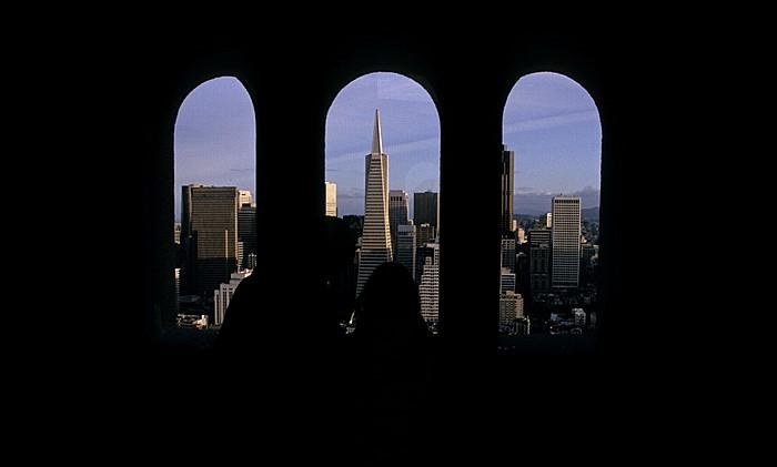 San Francisco Coit Tower Financial District Transamerica Pyramid