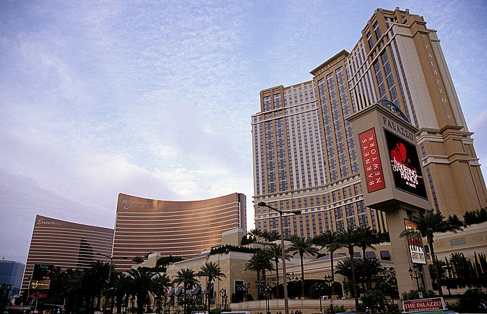 Las Vegas Strip (v.r.): The Palazzo, Wynn Las Vegas, Encore Las Vegas (Encore at Wynn Las Vegas)
