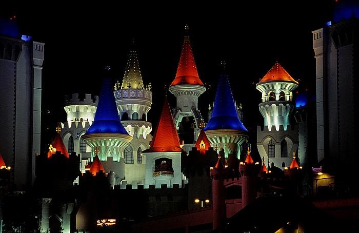 Las Vegas Strip (v.r.): Excalibur Hotel