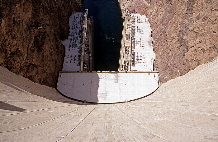 Lake Mead Hoover-Staudamm (Hoover Dam): Black Canyon mit dem Colorado River
