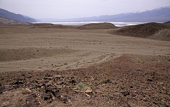 Blick von der Amargosa Range (Black Mountains): Death Valley Death Valley National Park