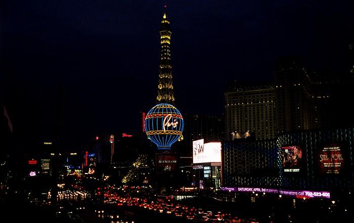 Las Vegas Strip: Paris Las Vegas: Nachbau des Eiffelturms