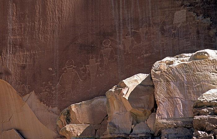 Capitol Reef National Park Petroglyphen