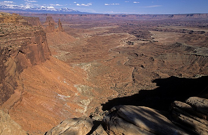 Canyonlands National Park Island in the Sky: Blick vom Mesa Arch: Buck Canyon