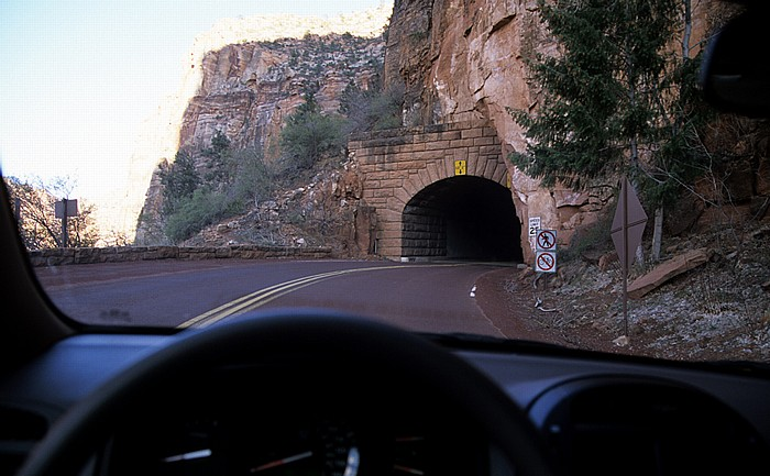 Westportal des Zion-Mount Carmel Tunnel Zion National Park