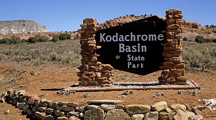 Kodachrome Basin State Park Eingangsschild