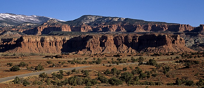Wayne County Blick zum Capitol Reef National Park
