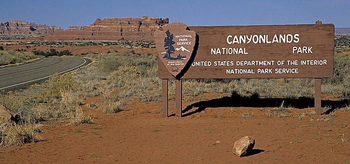 Eingangsschild Canyonlands National Park