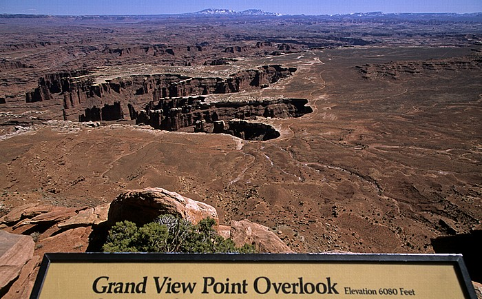 Canyonlands National Park Island in the Sky: Blick vom Grand View Point: White Rim, Meander Canyon (Colorado River)