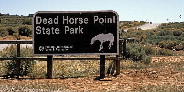Dead Horse Point State Park Eingangsschild
