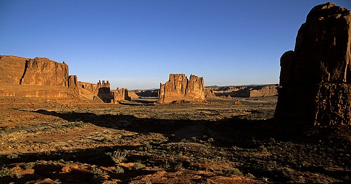 Arches National Park Courthouse Towers The Organ Three Gossips Tower of Babel
