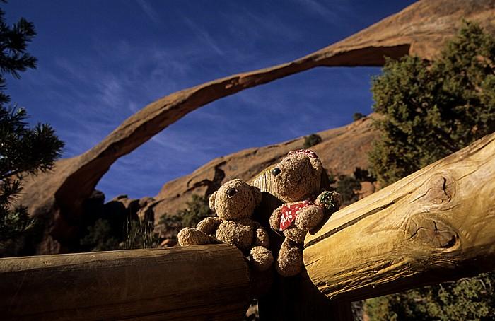 Arches National Park Devil's Garden: Landscape Arch: Teddy und Teddine