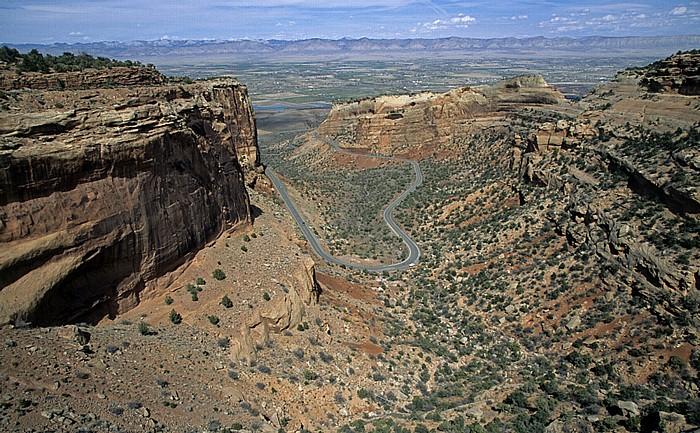 Colorado National Monument Blick vom Fruita Canyon View: Fruita Canyon