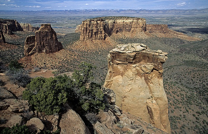 Colorado National Monument Blick von Grand View Independence Monument The Island Wedding Canyon