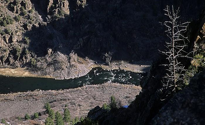 Black Canyon of the Gunnison National Park Blick vom Oak Flat Trail: Gunnison River