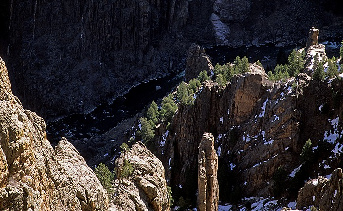 Black Canyon of the Gunnison National Park Blick vom Oak Flat Trail