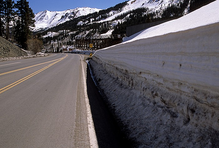 Rocky Mountains Million Dollar Highway (U.S. Route 550) zwischen Ouray und Silverton