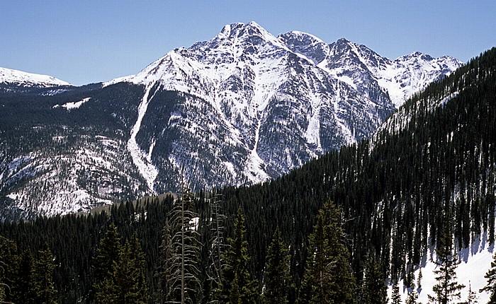 Rocky Mountains San Juan Skyway (U.S. Route 550) zwischen Silverton und Durango