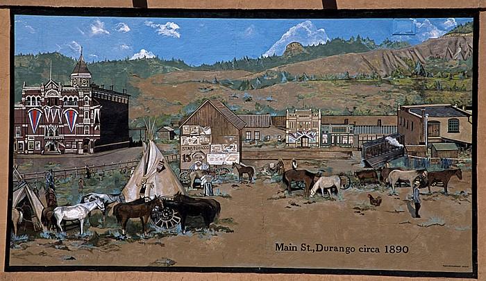 Durango Historisches Bild der Main Street