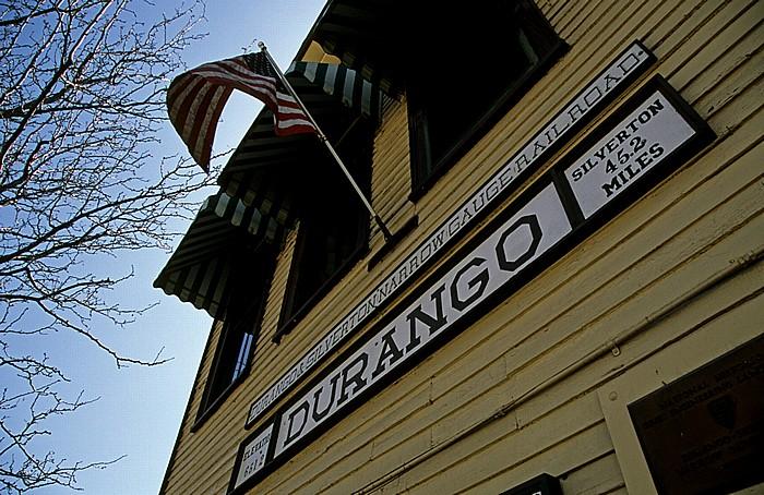 Südliche Endstation der Durango and Silverton Narrow Gauge Railroad Durango