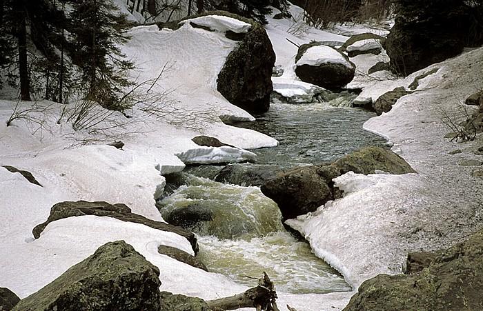 U.S. Route 160 zwischen Wolf Creek Pass und South Fork: Rio Grande Rocky Mountains