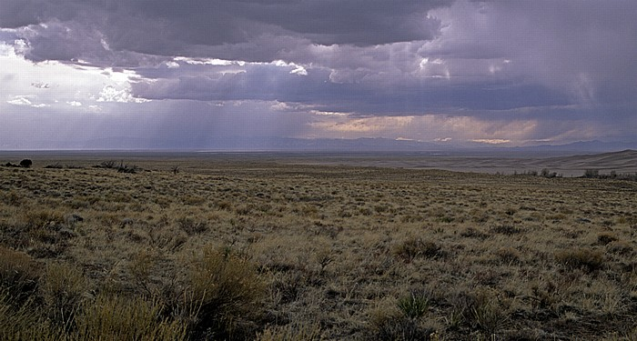 San Luis Valley Aufkommendes Gewitter