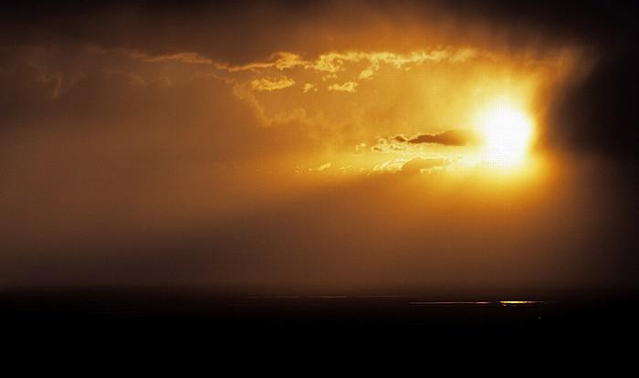 Gewitterfront und Sonnenuntergang San Luis Valley