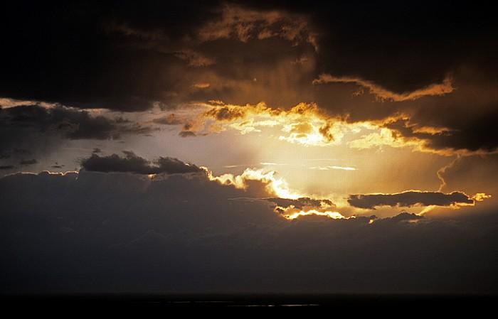 San Luis Valley Gewitterfront und Sonnenuntergang