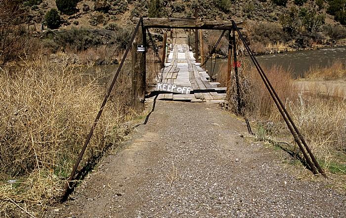 Taos County Cañon del Rio Grande: Brücke über Rio Grande
