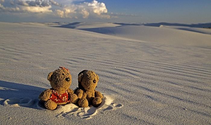 White Sands National Monument Sanddünen: Teddine und Teddy