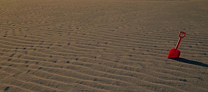 Sanddünen: Großer Sandkasten mit Schaufel White Sands National Monument