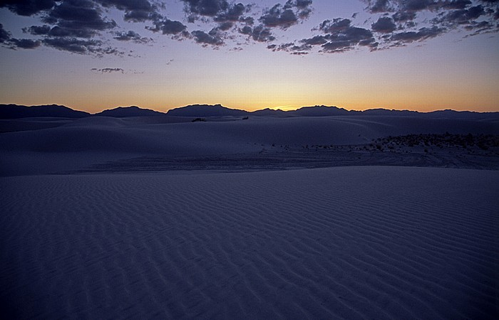 Kurz nach Sonnenuntergang: San Andres Mountains White Sands National Monument