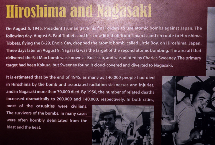 Albuquerque National Museum of Nuclear Science & History: Ausstellung Decision to Drop - Hiroshima und Nagasaki