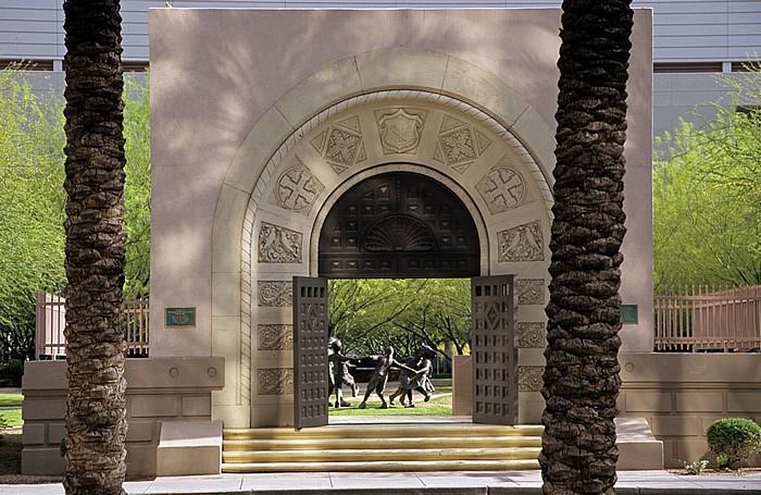 Downtown Phoenix: St Mary's School Memorial Doorway Phoenix