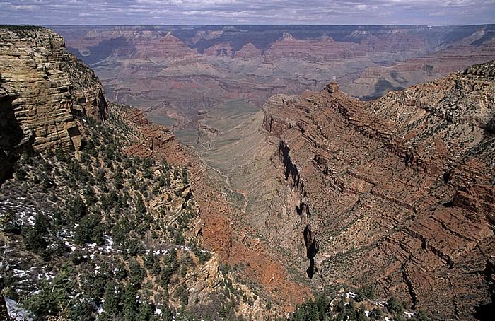 Grand Canyon National Park Blick von der South Rim: Grand Canyon und North Rim