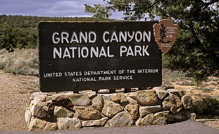 Grand Canyon National Park Parkeingangsschild