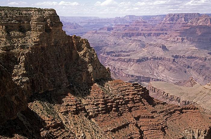 Blick vom Moran Point: South Rim, Grand Canyon und North Rim Grand Canyon National Park