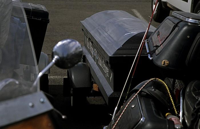Grand Canyon National Park Parkplatz des Desert View: Motorrad-Anhänger (Sarg)