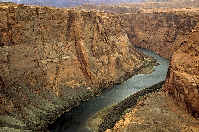 Horseshoe Bend mit Colorado River Coconino County
