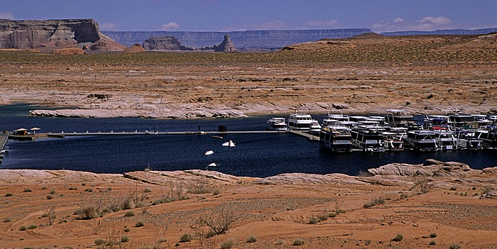 Glen Canyon National Recreation Area Lake Powell mit Marina, Antelope Island