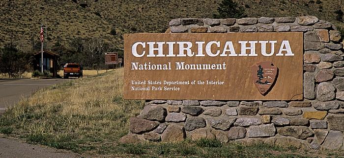 Eingangsschild Chiricahua National Monument