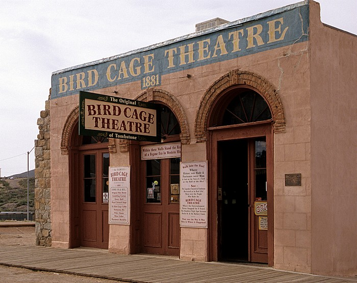Tombstone Historic District: Allen Street: Bird Cage Theatre